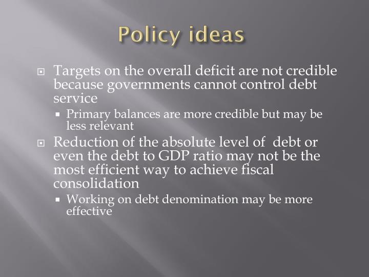 Policy ideas