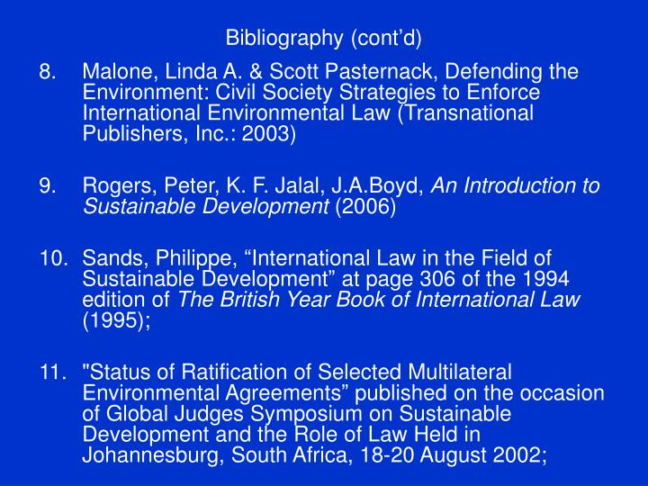 Bibliography (cont'd)