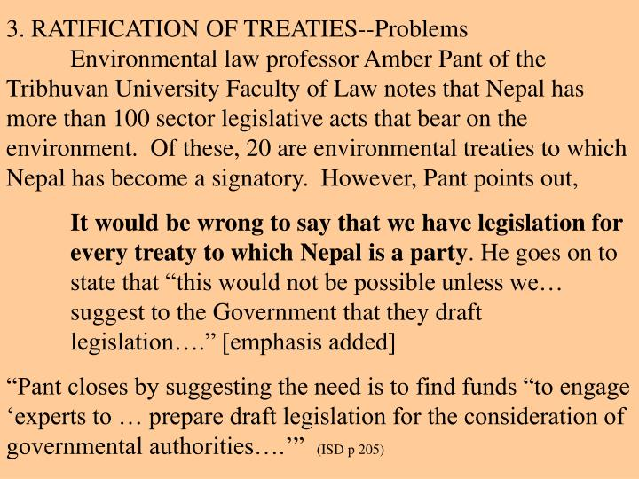 3. RATIFICATION OF TREATIES--Problems