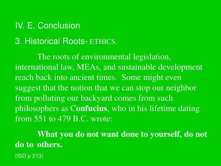 IV. E. Conclusion
