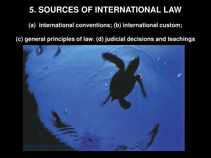 5. SOURCES OF INTERNATIONAL LAW