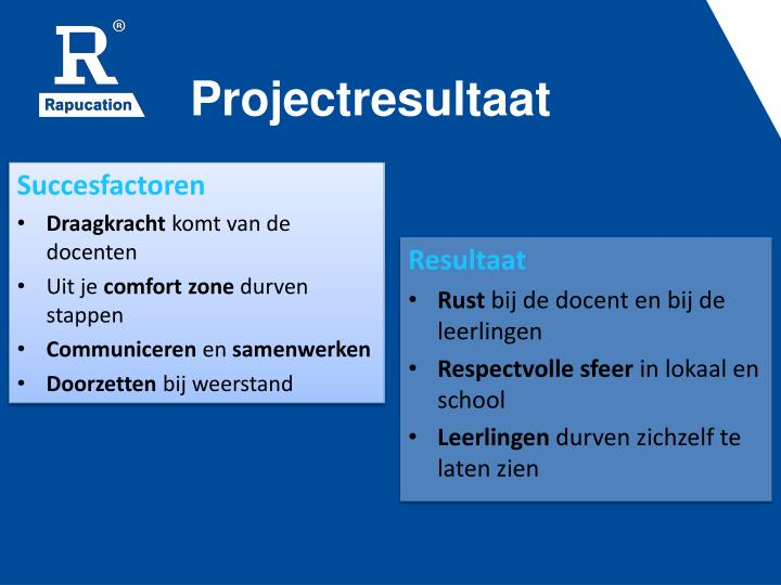 Projectresultaat