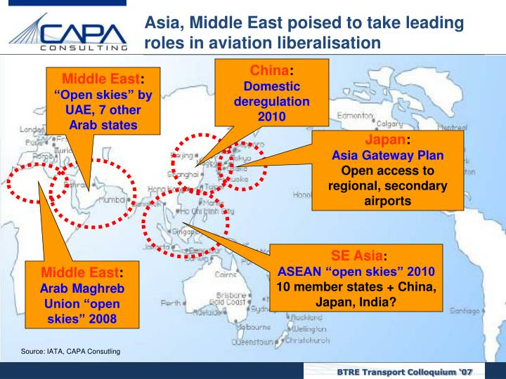 Asia, Middle East poised to take leading roles in aviation liberalisation