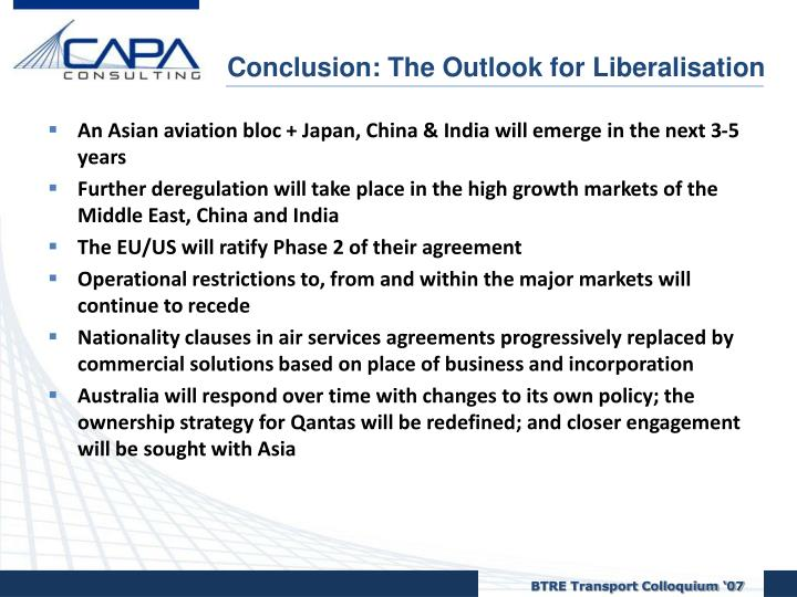 Conclusion: The Outlook for Liberalisation