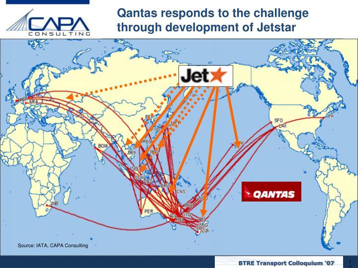 Qantas responds to the challenge through development of Jetstar