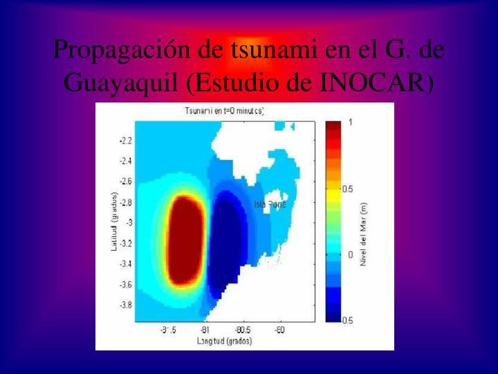 Propagación de tsunami en el G. de Guayaquil (Estudio de INOCAR)