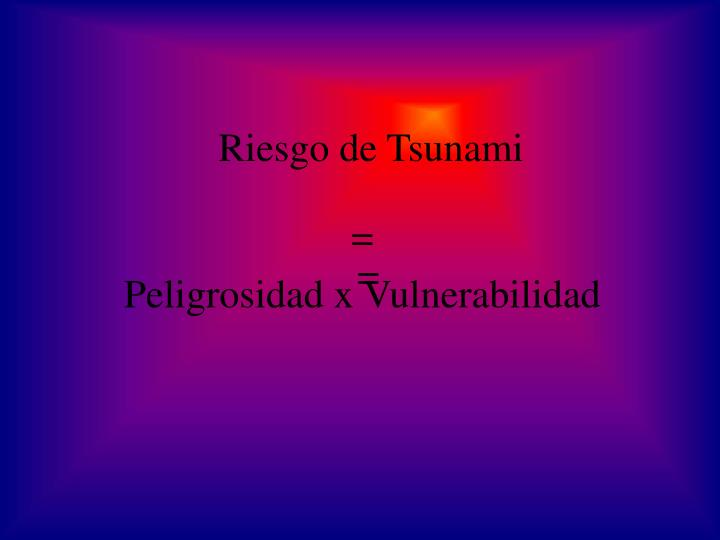 Riesgo de Tsunami