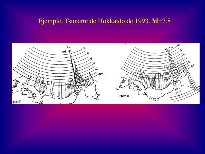 Ejemplo. Tsunami de Hokkaido de 1993.