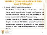 future considerations and way forward1