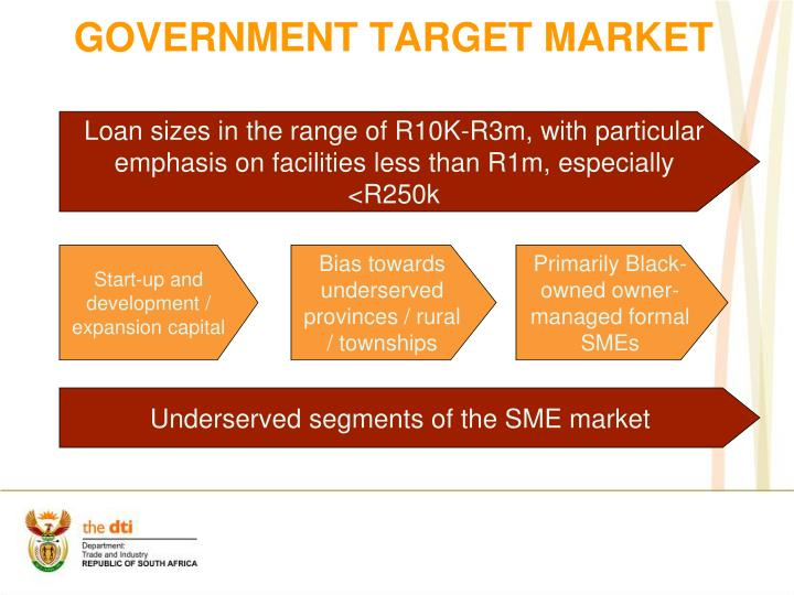 Government target market