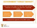 government target market