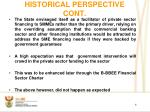 historical perspective cont