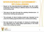 intervention by government dfi challenges