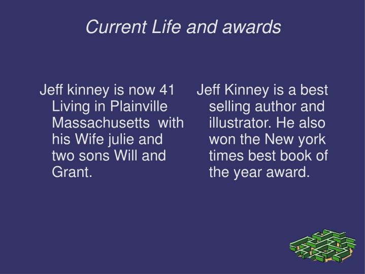 Jeff Kinney is a best selling author and illustrator. He also won the New york times best book of the year award.