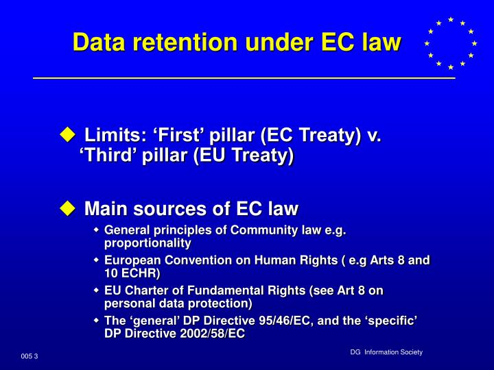Data retention under ec law