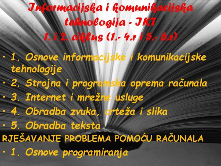 Informacijska i komunikacijska tehnologija - IKT