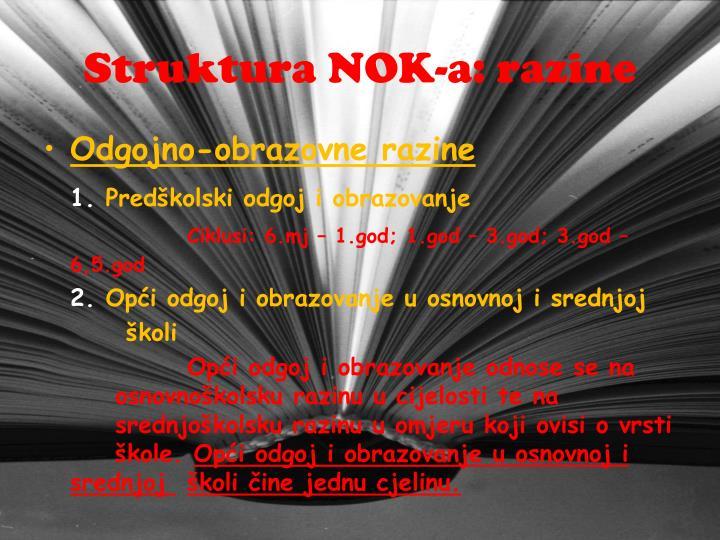 Struktura NOK-a: razine