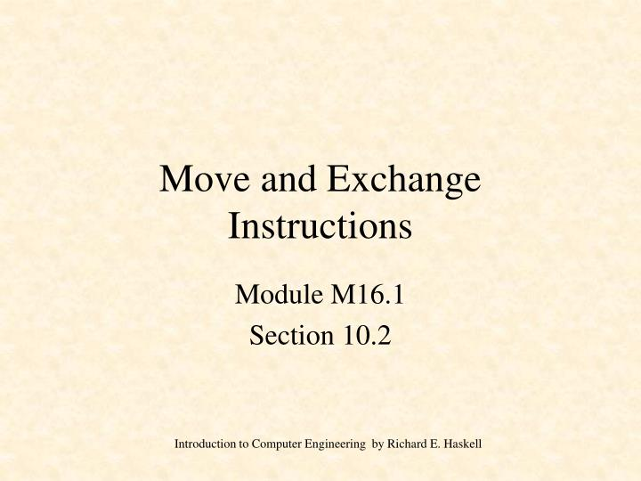Move and exchange instructions