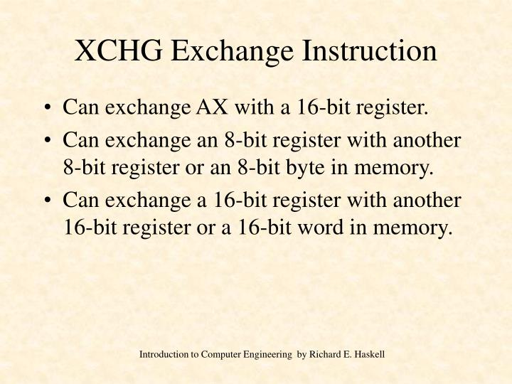 XCHG Exchange Instruction