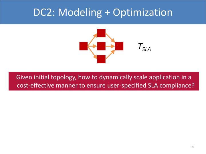 DC2: Modeling + Optimization
