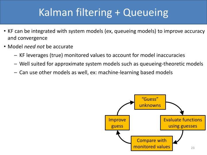 Kalman filtering + Queueing