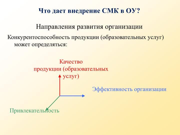 Направления развития организации