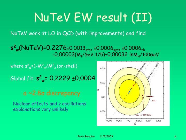 NuTeV EW result (II)