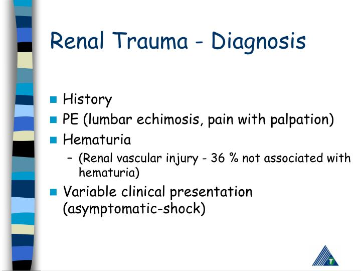 Renal Trauma - Diagnosis