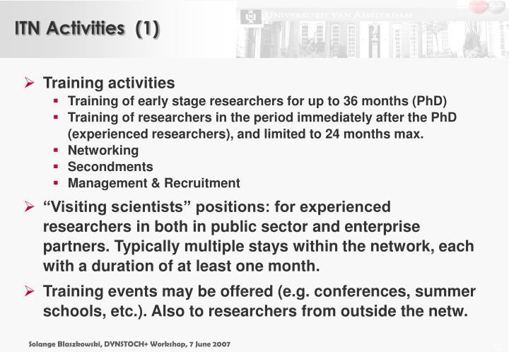ITN Activities  (1)