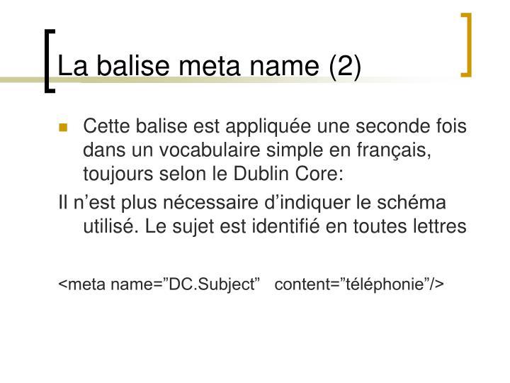 La balise meta name (2)