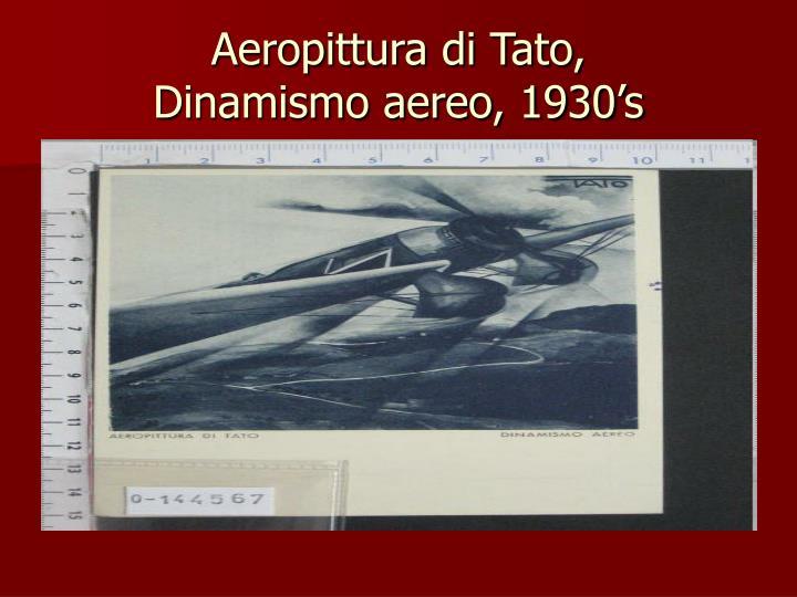 Aeropittura di Tato,