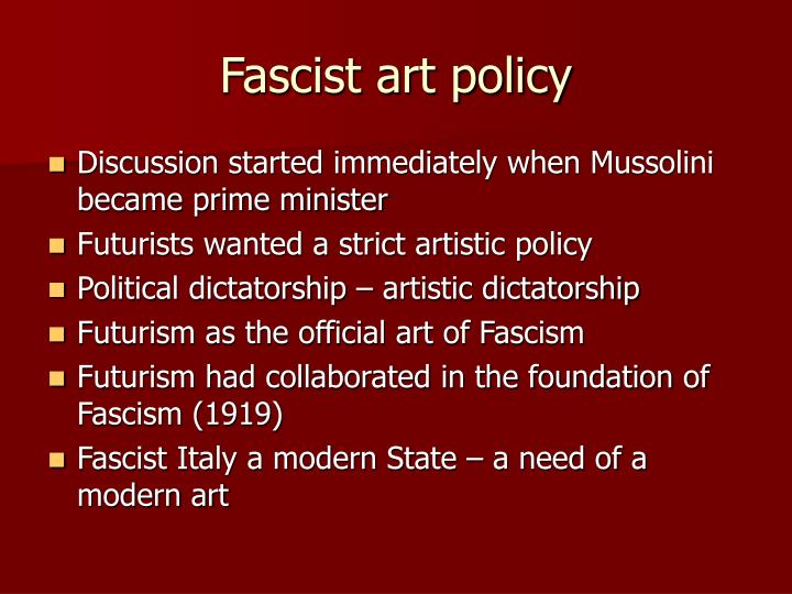 Fascist art policy