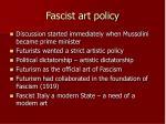 fascist art policy