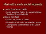 marinetti s early social interests