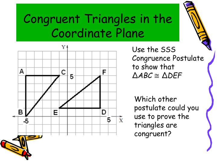 Congruent Triangles in the Coordinate Plane