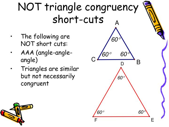 NOT triangle congruency short-cuts