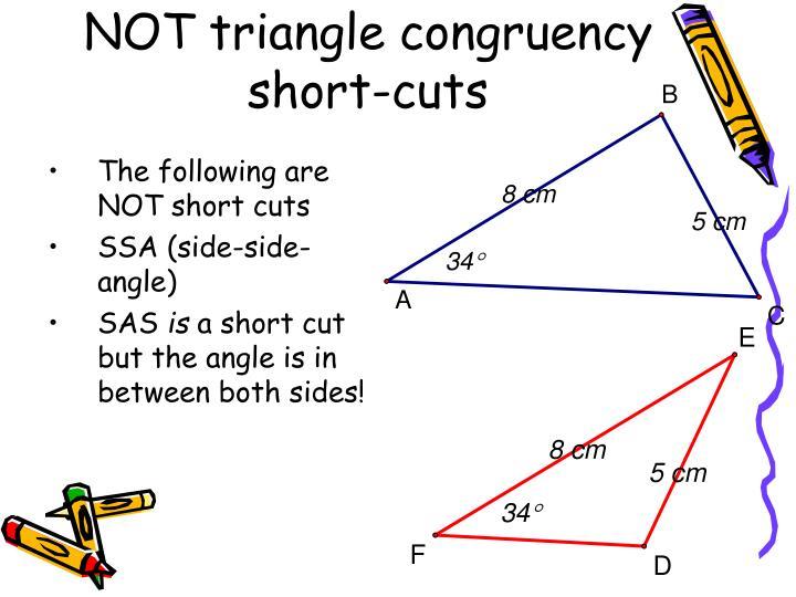 NOT triangle congruency short-cuts