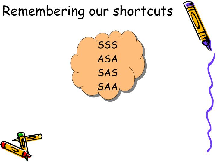 Remembering our shortcuts