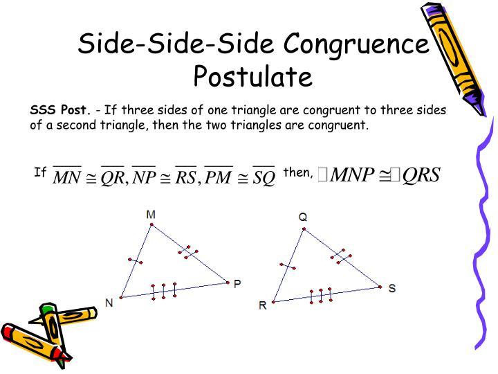 Side-Side-Side Congruence Postulate