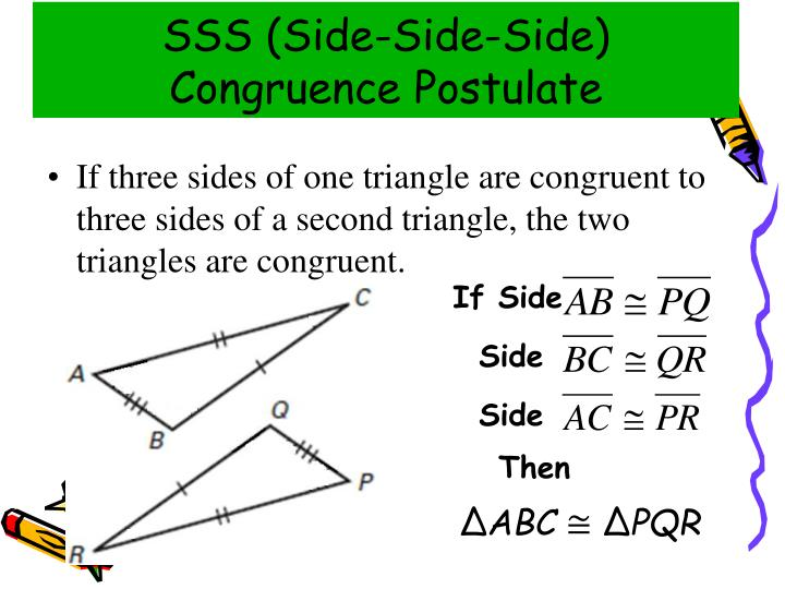 SSS (Side-Side-Side) Congruence Postulate