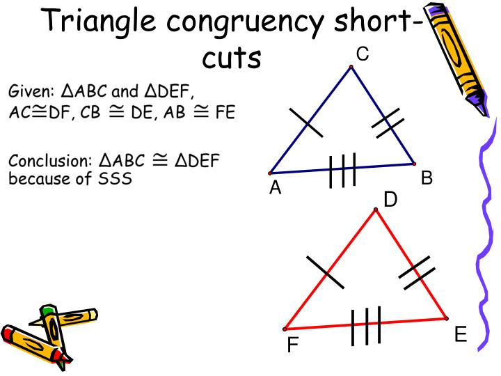 Triangle congruency short-cuts