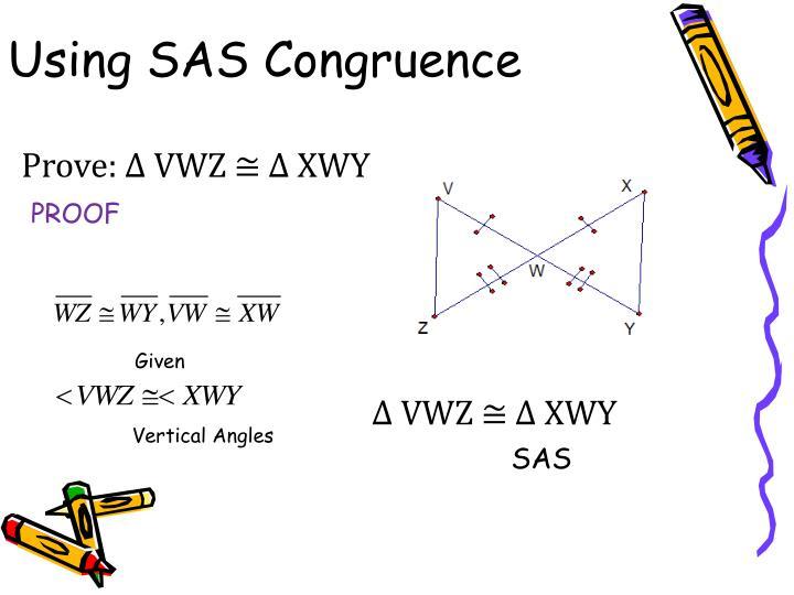 Using SAS Congruence