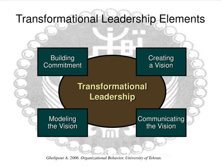 managing organizational behavior transformational leadership In essence, transformational leadership is a process of building commitment to organizational objectives and then empowering followers to accomplish those objectives (yukl, 1998) the result, at least in theory, is enhanced follower performance.