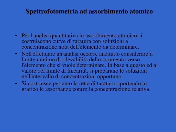 Spettrofotometria ad assorbimento atomico