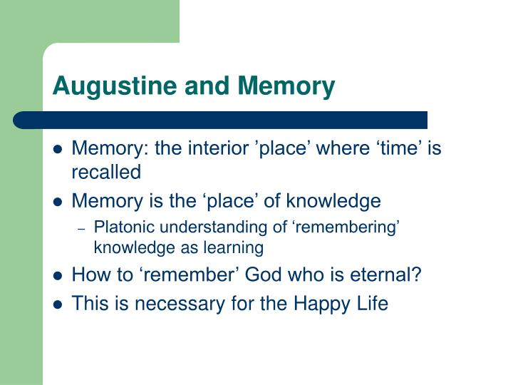 Augustine and Memory