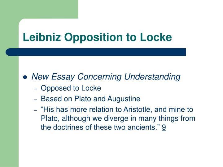 Leibniz Opposition to Locke
