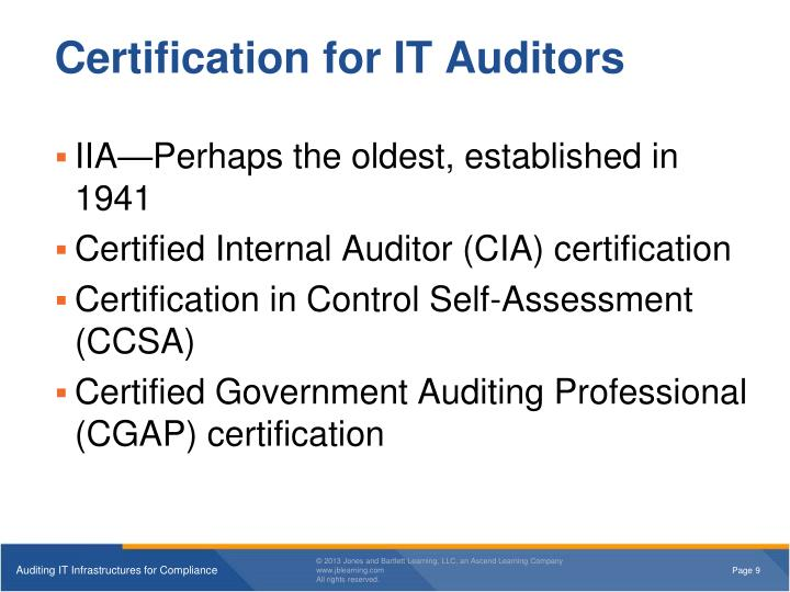 Certification for IT Auditors