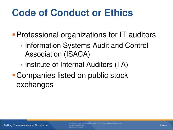 Code of Conduct or Ethics
