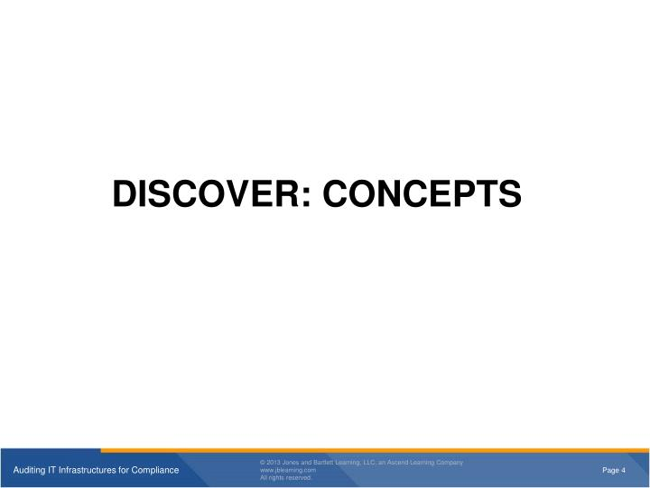 DISCOVER: CONCEPTS