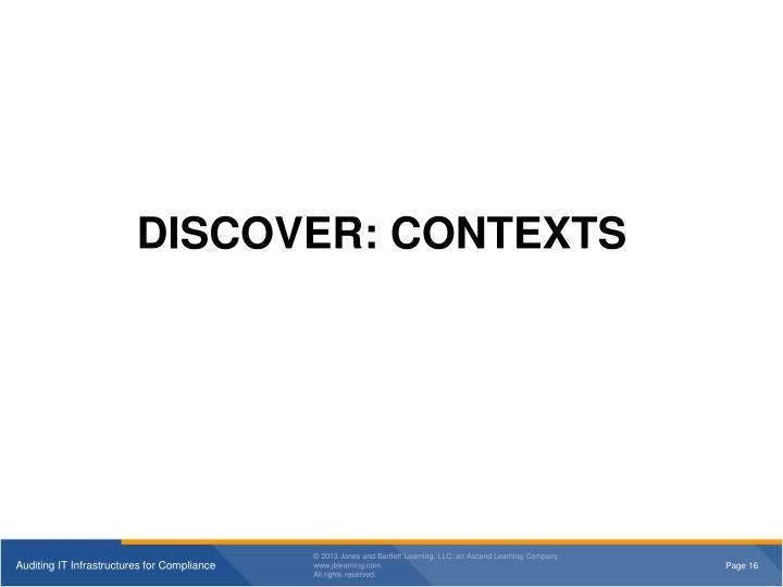 DISCOVER: CONTEXTS